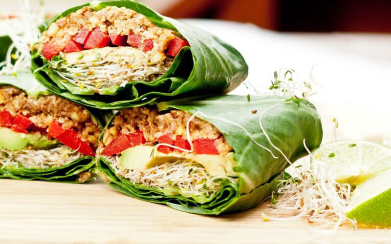 Make food delectable with organic green leafy vegetables